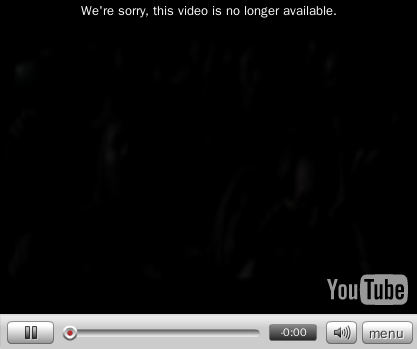 youtube error